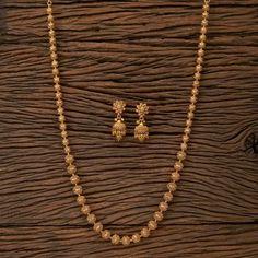 Antique Gold Matar Mala/ Indian Necklace/ Indian Long Necklace/ Long Gold Necklace/ Indian Jewelry/ Indian Necklace/ Punjabi Jewelry - New Ideas Gold Chain Design, Gold Bangles Design, Gold Earrings Designs, Gold Designs, Indian Necklace, Indian Jewelry, Gold Jewelry Simple, Gold Mangalsutra Designs, Schmuck Design