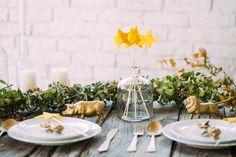 Decoración mesa dorado : via La Chimenea de las Hadas