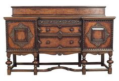 HOME DECOR – FURNITURE – BUFFET – Solid Oak Carved  Buffet on OneKingsLane.com