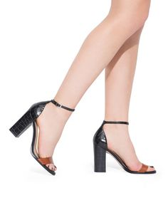This slightly chunky heel is a great way to try the trend + perfect for spring
