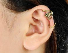 Cool Gecko Punk Gothic Ear Cuff Copper Single Earring No Piercing Cartilage Earrings, Ear Piercings, Unique Earrings, Earrings Handmade, Simple Ring Design, Ear Cuffs Online, Diamond Pendant, Ring Designs, Jewelry Sets