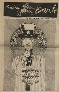 """Front page of """"The Berkeley Barb,"""" an underground newspaper, 1966."""