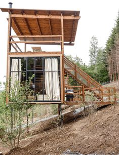 Cabin Design, House Design, Forest Camp, Go Glamping, Cabin In The Woods, Ardennes, She Sheds, Tiny House Living, Dream Garden
