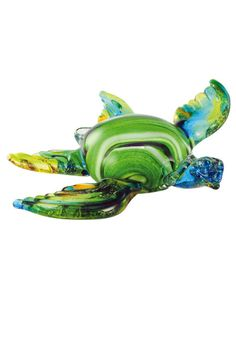 """Our Tropical mix features a blend of transparent aqua, yellow and green glass over real silver leaf to create the effect of sun on a tropical sea. Beautifully crafted about 7"""" x 8""""."""