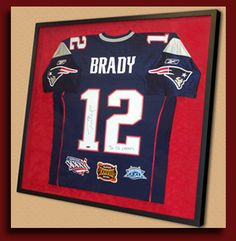 1113d1bf392 Sports jersey framing from Get The Picture RI - Sports memorabilia framing
