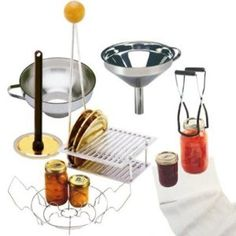 Norpro 2478367600456 7-Piece Home Canning Set...includes canning rack, 2 stainless steel funnels, magnetic lid wand, jar lifter and cheese cloth  #home canning #urban homesteading #canning