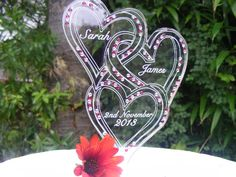 Our own Design Entwined Hearts www.cakesteelstanding.co.uk