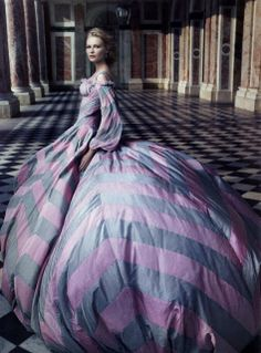 """""""Marie Antoinette"""" - Kirsten Dunst by Annie Leibovitz.  the dress and setting are TR.  Kirsten? Maybe a bit more toward SC, not sure.  But it's art.  The dress is meant to overwhelm her:)"""