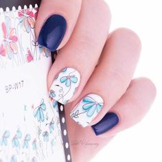 Cheap transfer sticker, Buy Quality manicure decoration directly from China decal transfer Suppliers: BORN PRETTY Cute Flower Nail Art Water Decals Transfer Sticker Manicure Decoration 2 Patterns/Sheet Feather Nail Art, Flower Nail Art, Acrylic Nail Designs, Nail Art Designs, Acrylic Nails, Nail Water Decals, Nail Art Stickers, Prego, Halloween Nail Art