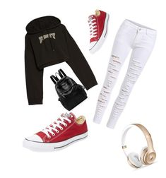 """""""Saturday morning Errands"""" by imthebossboutique on Polyvore featuring Puma and Converse"""