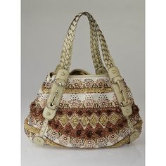 305c92d2309 Gucci Limited Edition Natural Canvas Raffia Embroidered Beaded Pelham Bag@ Yoogi's  Closet. Aside from