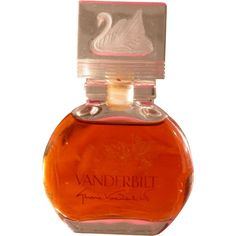 Perfume Bottle Gloria Vanderbilt with Swan All Glass from timeinabottle on Ruby Lane