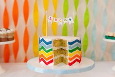 Bright Birthday Party in a Rainbow of Colors