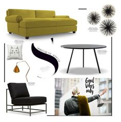 """""""ATMOSPHERE '"""" by dianefantasy ❤ liked on Polyvore featuring interior, interiors, interior design, home, home decor, interior decorating, Joybird Furniture and Karl Lagerfeld"""