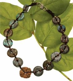 Dustin Wedekind takes advantage of colorful stone donuts to create this awesome gemstone necklace.