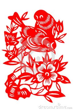 Chinese paper-cut bird