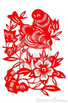Chinese paper-cut bird