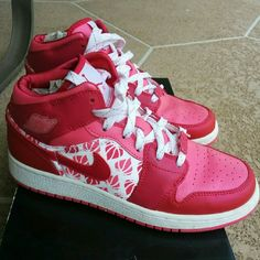 779bbc3a3ce9 Jordan Retro 1 Pink retro Jordans Nike Shoes Athletic Shoes