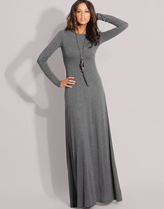 Stylish Muslimah.: Long Sleeve Maxi Dresses - wear with statement necklace and colored belt