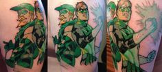 Green Lantern and Green Arrow Tattoo by paulabstruse