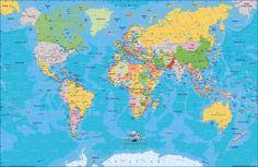mapa dos continentes do mundo | Mapa-Múndi (mapa do mundo) - Continentes e…
