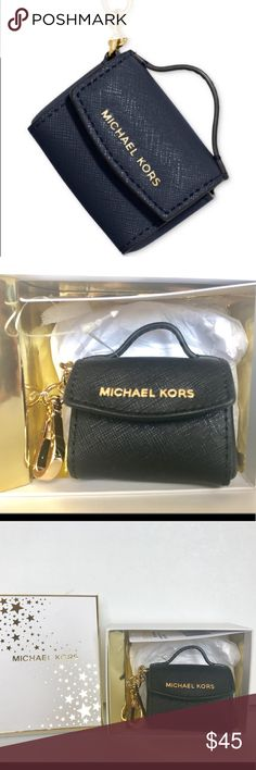 Michael kors Black mini Ava satchel key charm New in the original box. Gorgeous mini AVA satchel key fob. This chic key chain nods to MK signature accessories in a playful way. Link it onto your keys or your handbag to store coins and add a touch of class