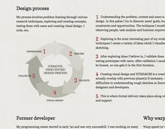 Explaining your design process