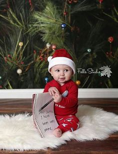 Baby first christmas pictures kids 42 trendy Ideas - Kinder Weihnachten Xmas Photos, Family Christmas Pictures, Holiday Pictures, Christmas Christmas, Xmas Pics, Christmas Baby Photos Diy, Xmas Family Photo Ideas, Christmas Photoshoot Ideas, Fall Baby Pictures