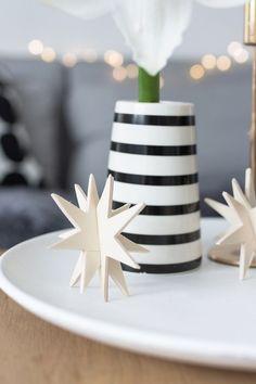 DIY Weihnachtsschmuck: 3D - Holzsterne zum Stecken | {Sinnenrausch} | Bloglovin'