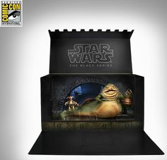 2014 SDCC EXCLUSIVE Star Wars BLACK SERIES Jabba The Hutt Throne Room I KNEW I SHOULD'VE GONE TO COMIC-CON!!!!!!