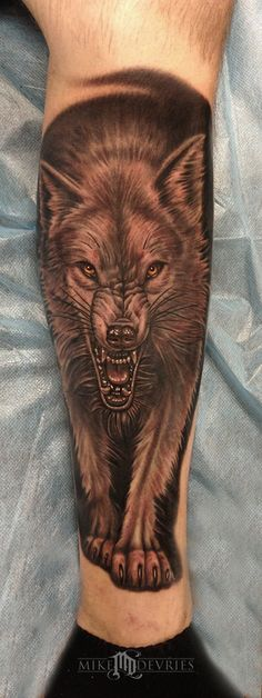 Mike DeVries - Wolf Tattoo Second Pass