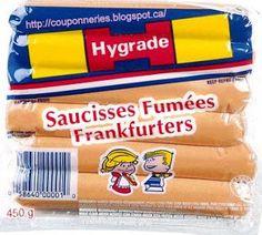Coupons et Circulaires: 1,38$ Saucisses HYGRADE