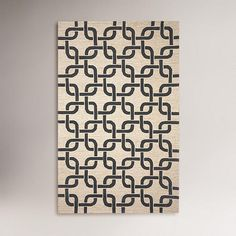 One of my favorite discoveries at WorldMarket.com: Chains Indoor-Outdoor Rug, Black/Neutral