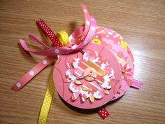 Pink Yellow and Red Premade  Mini Flower by HampshireRose on Etsy, $10.00