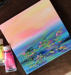 Small Canvas Paintings, Small Canvas Art, Mini Canvas Art, Aesthetic Painting, Aesthetic Art, Acrylic Art, Acrylic Painting Canvas, Acrylic Painting Inspiration, Watercolor Art