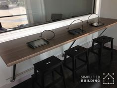 Wall Mounted Desks - Great For Small Spaces!
