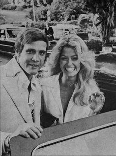 Lee Majors and Farrah Fawcett
