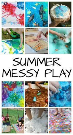 Awesomely Messy Play Ideas for Kids to Try this Summer Awesomely Messy Play for Kids to Try This Summer - fun, messy ideas for sensory play and art Sponsored post Summer Fun For Kids, Art For Kids, Summer Art, Summer Activities For Kids, Preschool Activities, Summer Games, Sensory Art, Sensory Bins, Messy Play