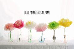 Como fazer flores lindas de papel - dcoracao.com - blog de decoração