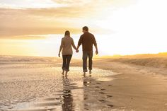Couple walking together into the sunset - Myrtle Beach State Park by Ryan Smith Photography, via Flickr