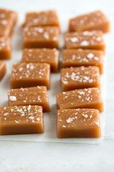 These salted caramels are soft, chewy and perfectly melt away in your mouth. From inspiredtaste.net | @inspiredtaste