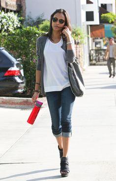 love Zoe Saldana's style