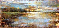 Wells Gallery-Curt Butler - Break of Day Pastel Landscape, Abstract Landscape, Landscape Paintings, Abstract Art, Impressionist Art, Impressionism, Unique Paintings, Custom Art, Butler