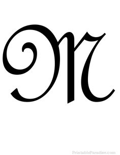 Printable Letter M in Cursive Writing