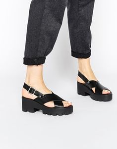 ASOS HAVE A DREAM Leather Heeled Sandals