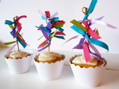 Cinco de Mayo cupcake toppers. EASY to make at home!