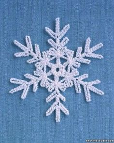 Crochet Motif Martha Stewart Snowflake free crochet pattern - Free Crochet Snowflake Patterns - The Lavender Chair - I can't wait to decorate my house with all of these snowflake crochet patterns! Perfect for decorating the home! Free Crochet Snowflake Patterns, Christmas Crochet Patterns, Crochet Christmas Ornaments, Crochet Stars, Crochet Motifs, Crochet Snowflakes, Holiday Crochet, Christmas Snowflakes, Thread Crochet