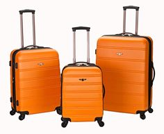 The Set of Classic Orange Rockland Melbourne 3 Piece ABS Luggage  http://www.alltravelbag.com/the-set-of-classic-orange-rockland-melbourne-3-piece-abs-luggage/