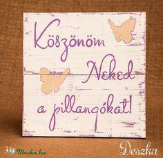 Meska - Szerelmes üzenet koptatott deszkatáblán Deszka kézművestől