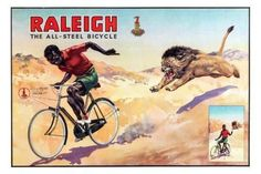 Raleigh Bicycles Vintage Advertising Print Poster Standup 4inx6in
